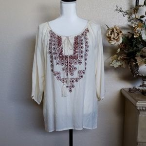 Cute Options Embroidered Blouse, size L